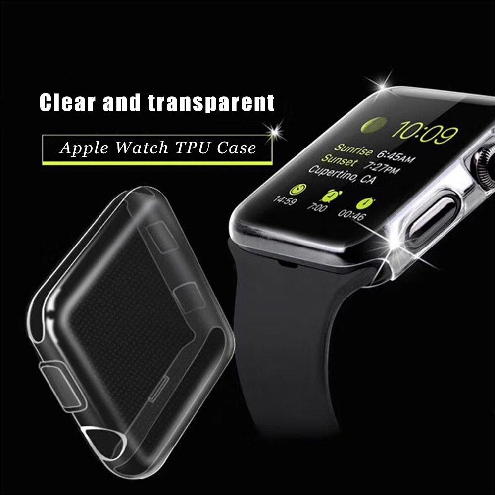 2 pz 9 H Durezza Protezione Dello Schermo 2.5D Vetro Temperato Per Apple iWatch Serie 1 2 3 42mm/ 38mm Scratch Caso di TPU Per Apple Orologio2 pz 9 H Durezza Protezione Dello Schermo 2.5D Vetro Temperato Per Apple iWatch Serie 1 2 3 42mm/ 38mm Scratch Caso di TPU Per Apple Orologio
