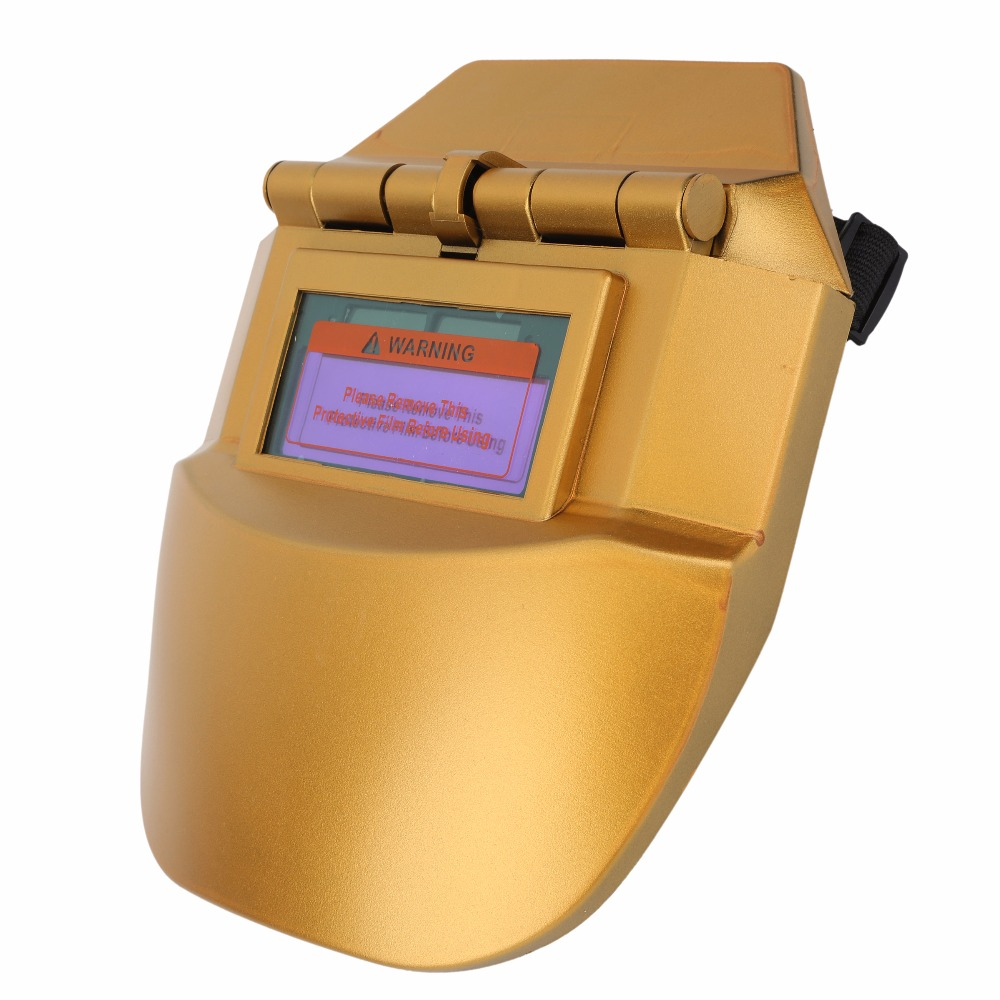 New Protect Eyes Face Protection Gold Electric Welding Helmet Welding Mask for The Face Masks Welding Tools Face Mask Welder Cap  цены