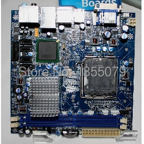 For DG45FC G45 Mini-ITX DDR2 800 motherboard m945m2 945gm 479 motherboard 4com serial board cm1 2 g mini itx industrial motherboard 100