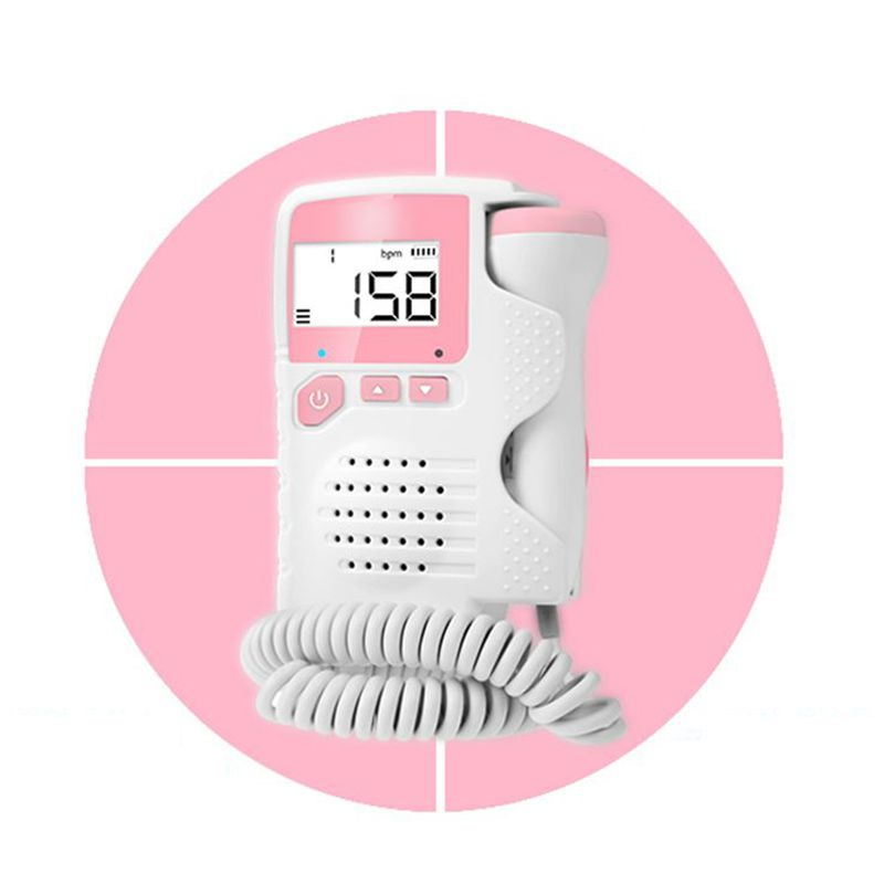 Laiwen Fetal doppler Porbe Prenatal Baby Heart Beat Monitor 4.5 Display Fetal Doppler Monitor