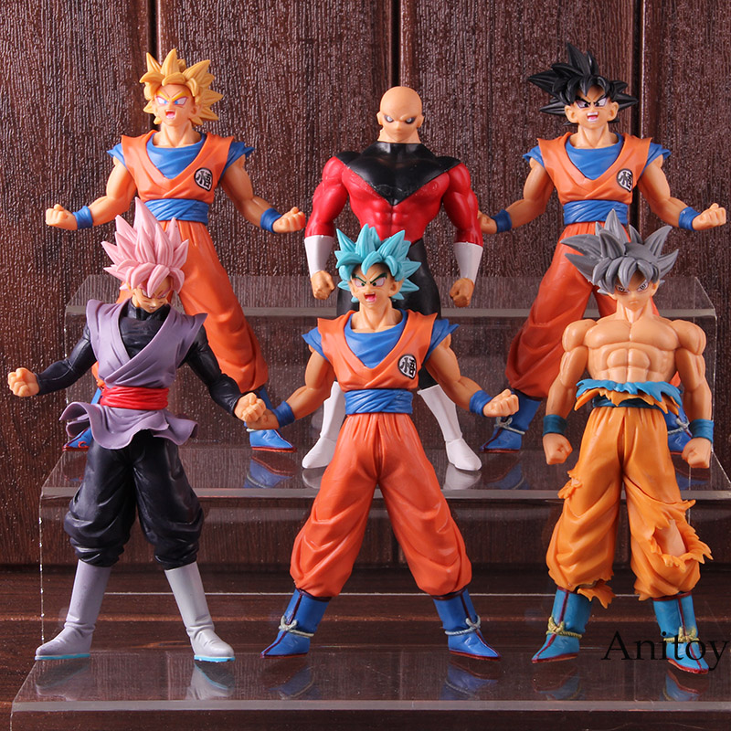 Dragon Ball SUPER Son Goku Ultra Instinct Super Saiyan God SS Gokou Black Jiren Action Figure PVC Model Toys for Boys 6pcs/set 1