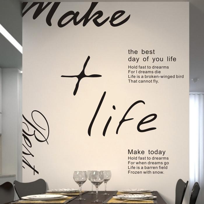 Love Life Englisch Poesie Schlafzimmer Wohnzimmer Fernseheinstellungswand Heisser WandaufkleberChina Mainland