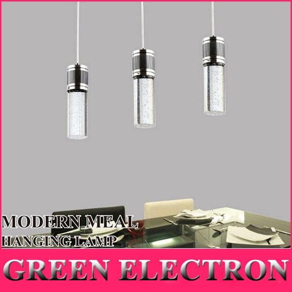 Fashion Lighting Crystal Lamp Modern Brief LED Pendant Lamp Creative Crystal Pendant Lamp Bar Light Free Shipping