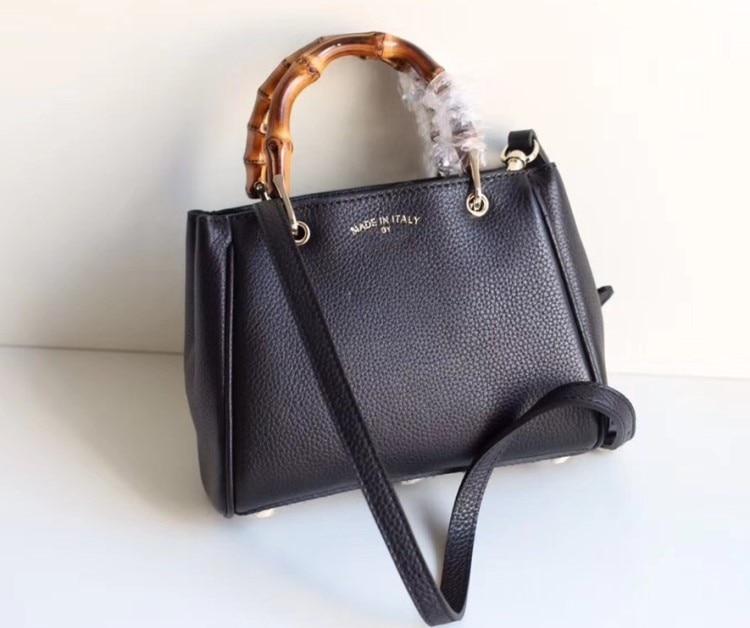 Luxury bamboo Handbags Women Bags Designer Female Bags For Women 2018 Leather Handbags Famous Brand Fashion Shoulder Bag
