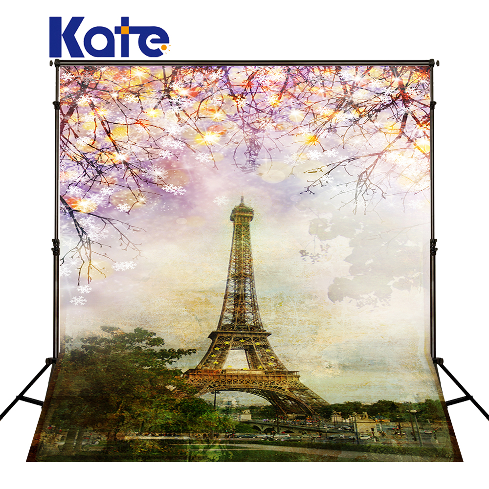 5X7FT Kate Eiffel Tower Bokeh Backdrop Scenic Photo Backdrops Pink Flower Wedding Backdrops Seamless Photocall French Background 857 seamless nail wedding photo frame wall paintings hook the real invisible
