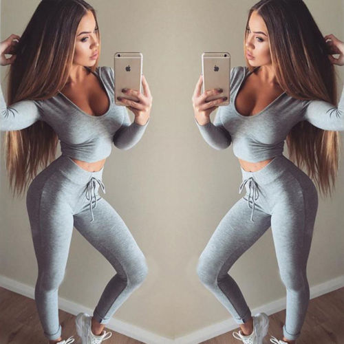 Fitness Leggings Women Clothes Tops And Pants