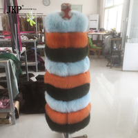 Real Fox Fur Vest Women Coat Natural Fox Fur Ladies Warm Removable Two Wears Genuine Real
