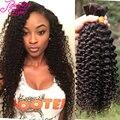 Удивительные Девственницы Бразильские Волос Массовая Плетение Бразильский Странный Вьющиеся Человека Плетение Волос Массовая 100% Необработанные Человеческих Волос