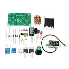 DIY Kit LED LM317 Adjustable Voltage Regulator Step-down Power Supply Module Set стоимость