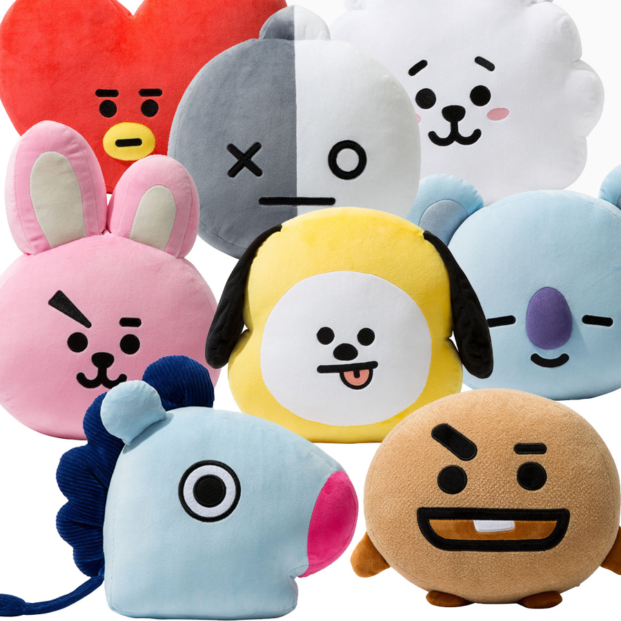 Cute Cartoon BTS BT21 Plush Doll Toy Bangtan Boys Throw Pillow Cushion Boys Throw Pillow Perfect for Sofa Home Decor lip pattern home decor throw pillow case