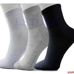 10 пар/лот лот мужские повседневные Черные/серые/белые уютные хлопковые носки