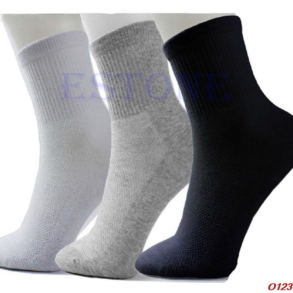 10 Pairs/lot Lot Man casual black/grey/white Cosy Cotton Socks