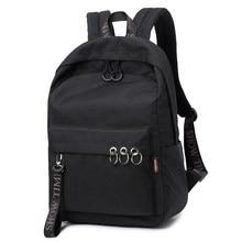 d282ed11da5e Waterproof Women Backpack Black and Pink Travel Bookbag Lady Back Bag  KeyChain Knapsack College School Bag for Girls