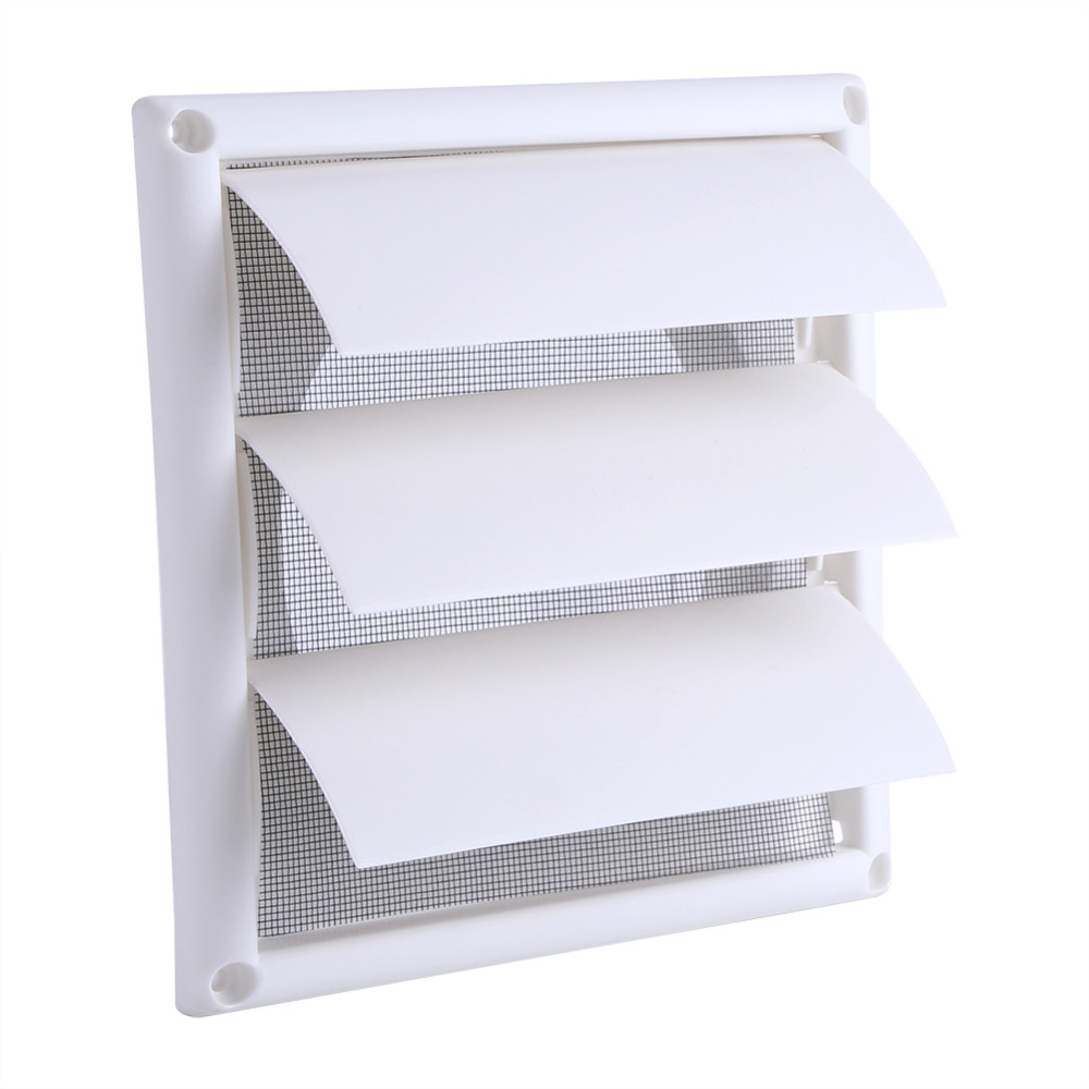 15 X 15cm Plastic Air Vent Grille Cover 3 Flaps Wall Duct