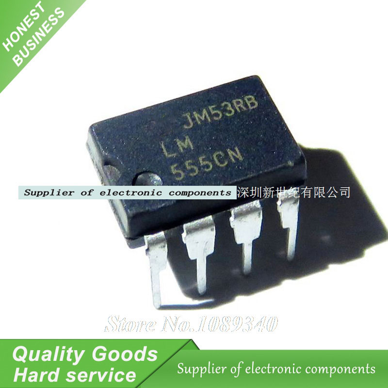 10PCS LM555CN LM555 DIP-8 Programmable Timers And Oscillators New Original Free Shipping