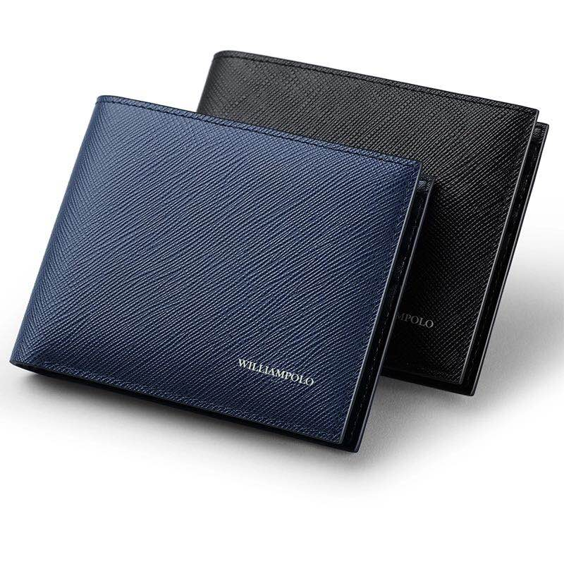 Leather Men Wallet Brand Luxury Leather Wallets Office Male Wallet Mature Man Bifold Wallet Small Purse PL171335-in Wallets from Luggage & Bags    1
