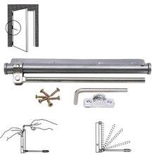 Новинка, нержавеющая сталь, автоматическая пружинная защелка, мебельная фурнитура, автоматическое закрывание, регулируемый Дверной доводчик