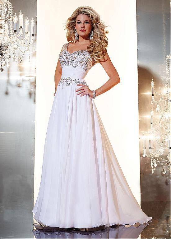 Beautiful White Evening Wear