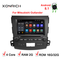 2 Din Android 8.1 2GB RAM GPS Navi DVD Car Multimedia Player For MITSUBISHI Outlander XL 2006 2012 Stereo Radio
