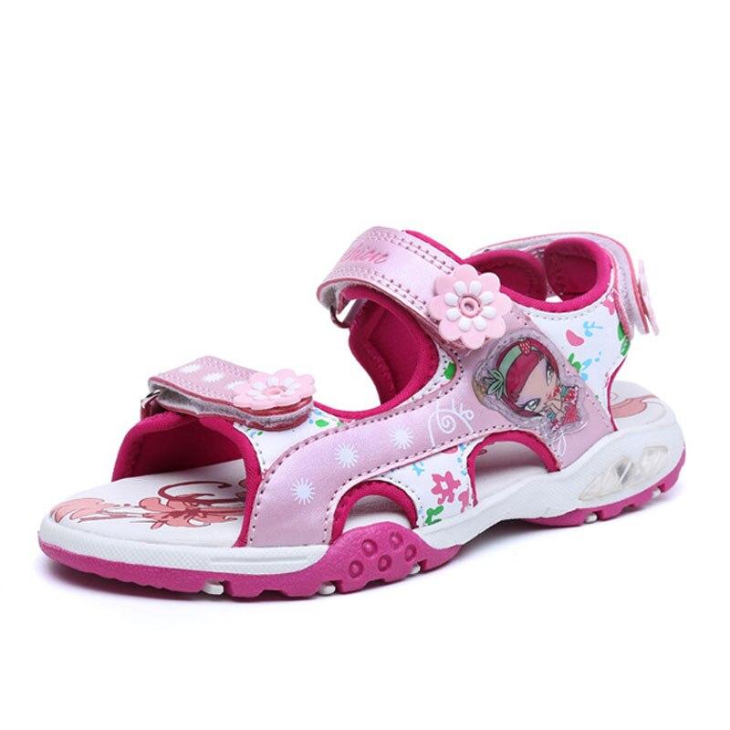 meisjes sandalen zomer nieuwe stijl kinderen schoenen meisje mode - Kinderschoenen - Foto 1