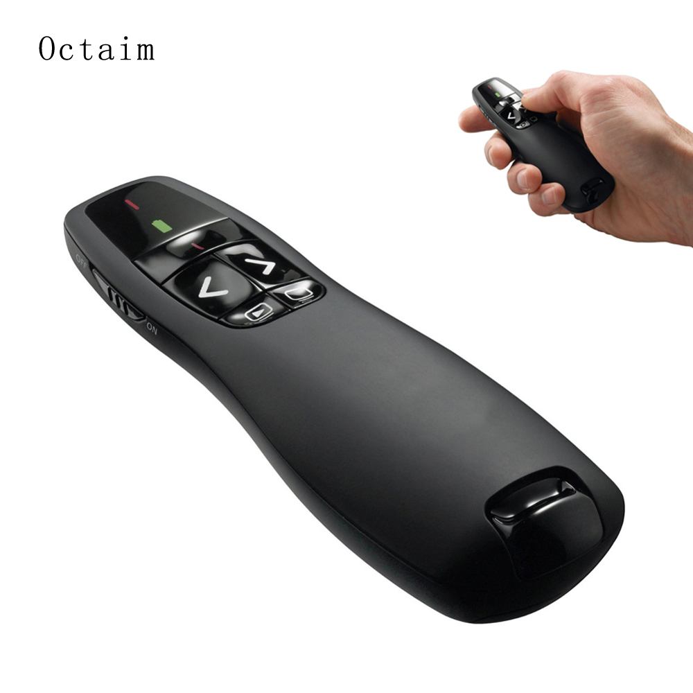 R400 2.4Ghz USB Wireless Presenter Red Laser Pen Pointer PPT Remote Control with Handheld Pointer for PowerPoint Presentation lc 3000 2 4hz usb wireless presenter w red laser pointer silver black 2 x aaa page 3