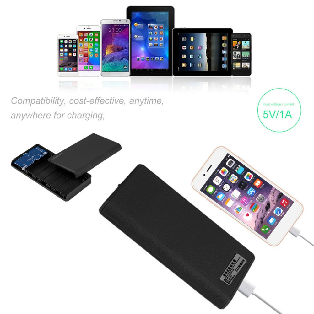 Portable 18000MAH USB External Power Bank Portable Size Backup Battery Charger Power Supply Bank Case For Smart Phones