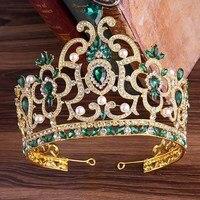 Vintage Wedding Hair Accessories Rhinestone Pearl Bridal Tiaras Crowns Crystal Bride Diadem Ornaments hair Jewelry for Women LB