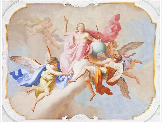 3D фото обои на заказ 3d потолочные обои фрески Европейский ангел фрески 3d гостиной обои