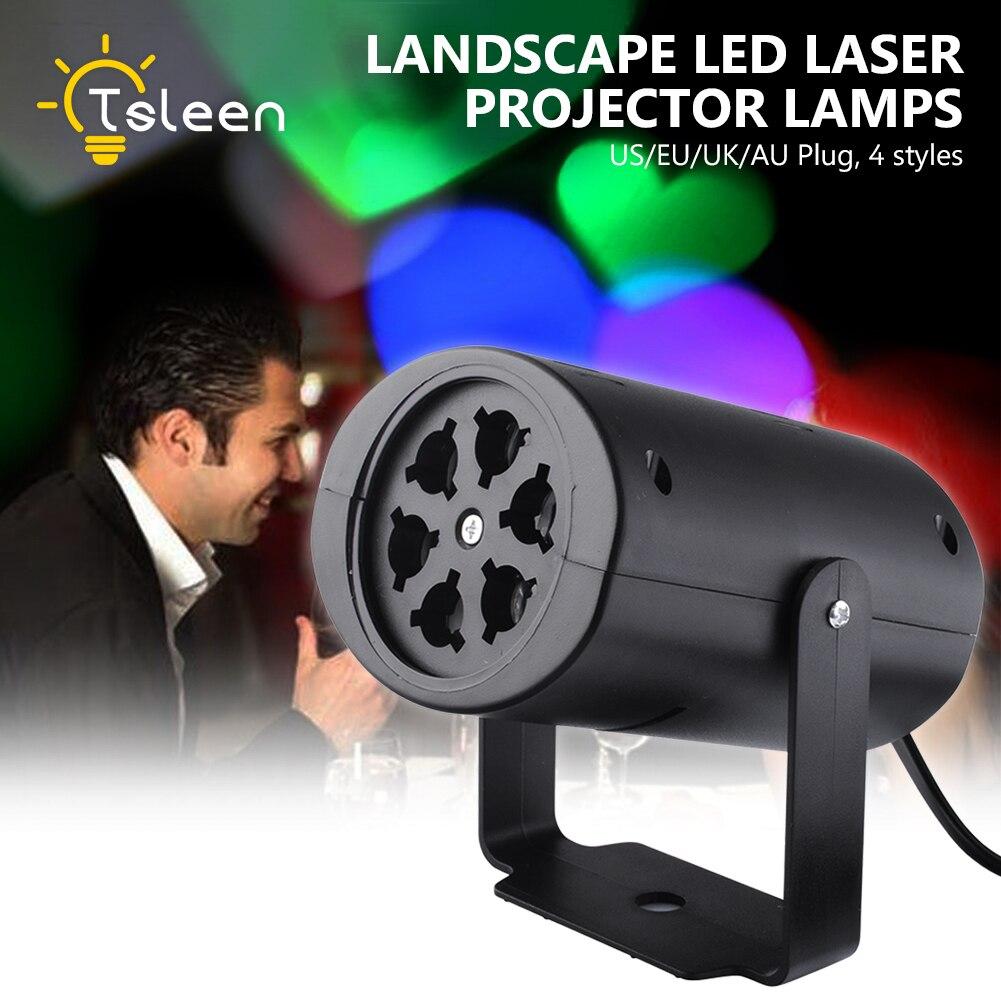 TSLEEN RGB LED Stage Light Party DJ Disco Color Change Rotating Lamp Festival Decor LED Projector Laser Lamp Snow KTV Lights