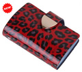 2016 leopard patent leather cards wallet Best Selling Women's fashion credit card holder ,TCP007