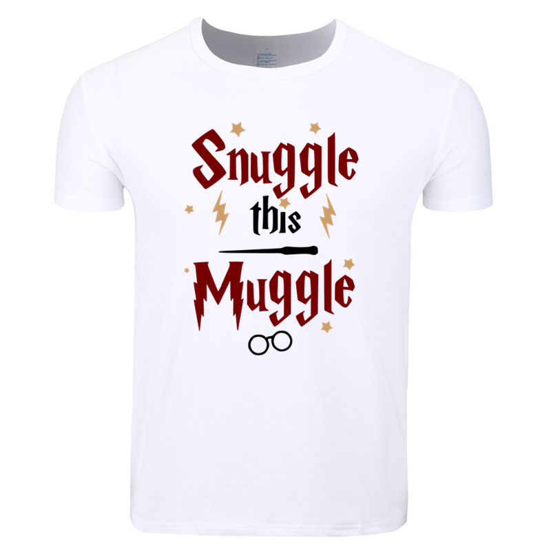 Asian Size Men And Women Print Snuggle This Muggle Fashion T-shirt O-Neck Short Sleeve Summer Casual Funny T-shirt HCP4298