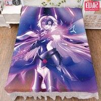 August update Anime Fate/Apocrypha FGO Jeanne d'Arc & Tamamo no Mae bed milk sheet & blanket summer quilt 150x200cm