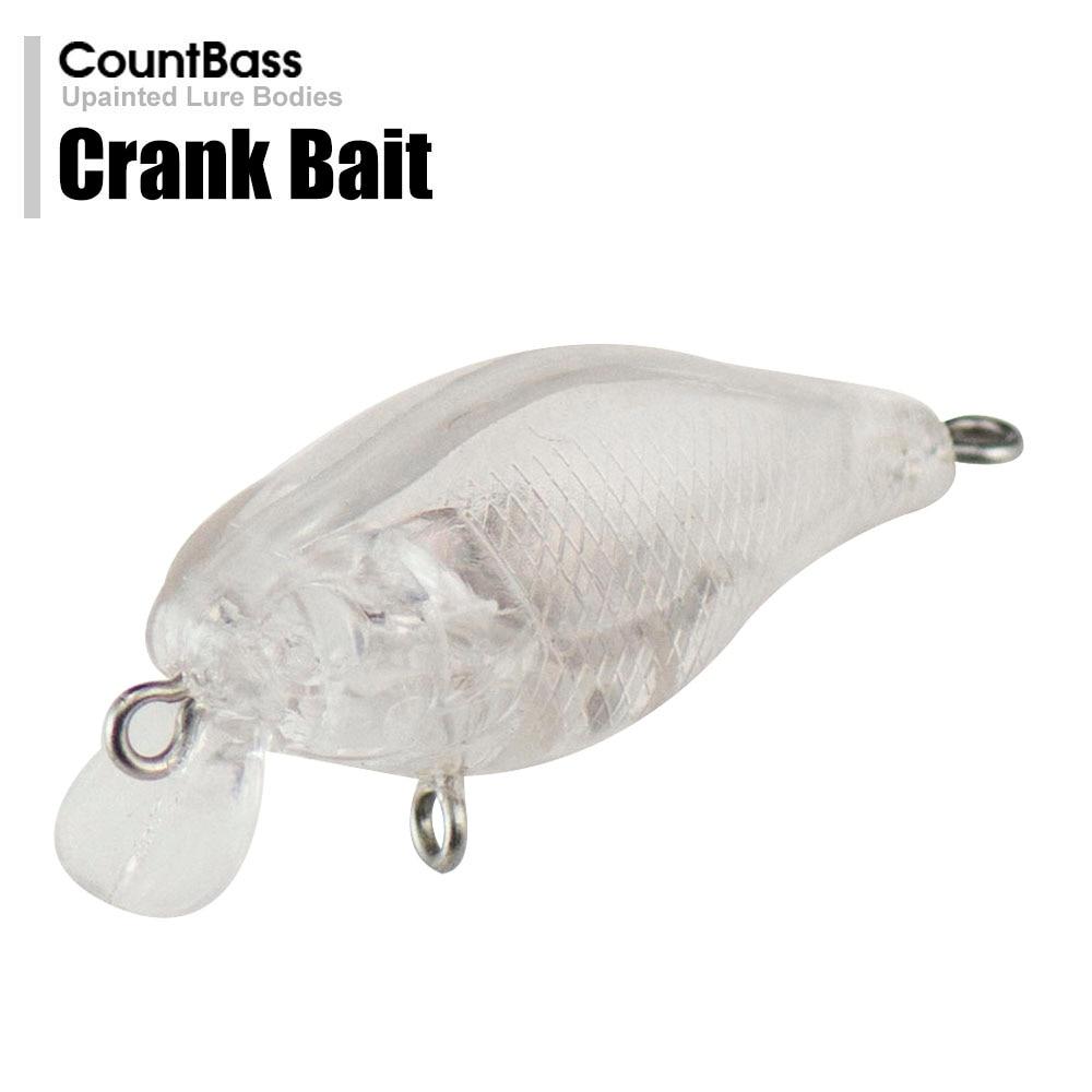 10Pcs Blank Crankbait Unpainted Hard Bait Fishing Lures Tackle DIY Accessory