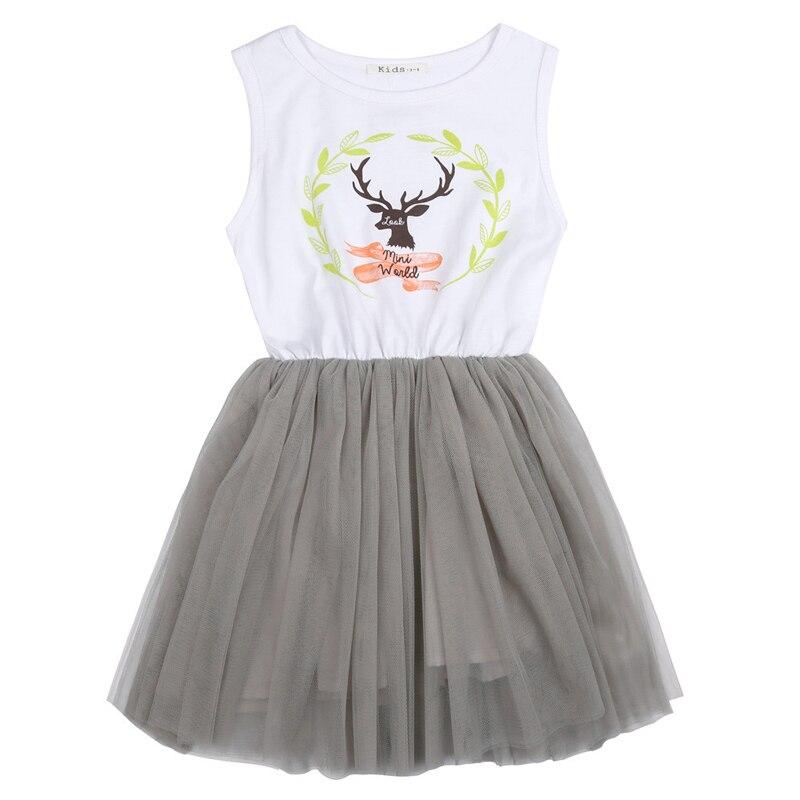7b91fb361 Baby Girl Dress Cotton Deer Print Kids Dresses For Girls Children ...