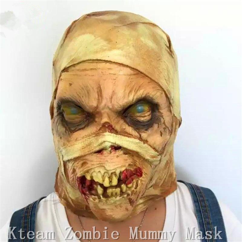 Nejvyšší kvalita Halloween Mumie maska Zombie krvavá děsivá maska Extrémně nechutná maska s plnou hlavou Kostým Cosplay Prop  t