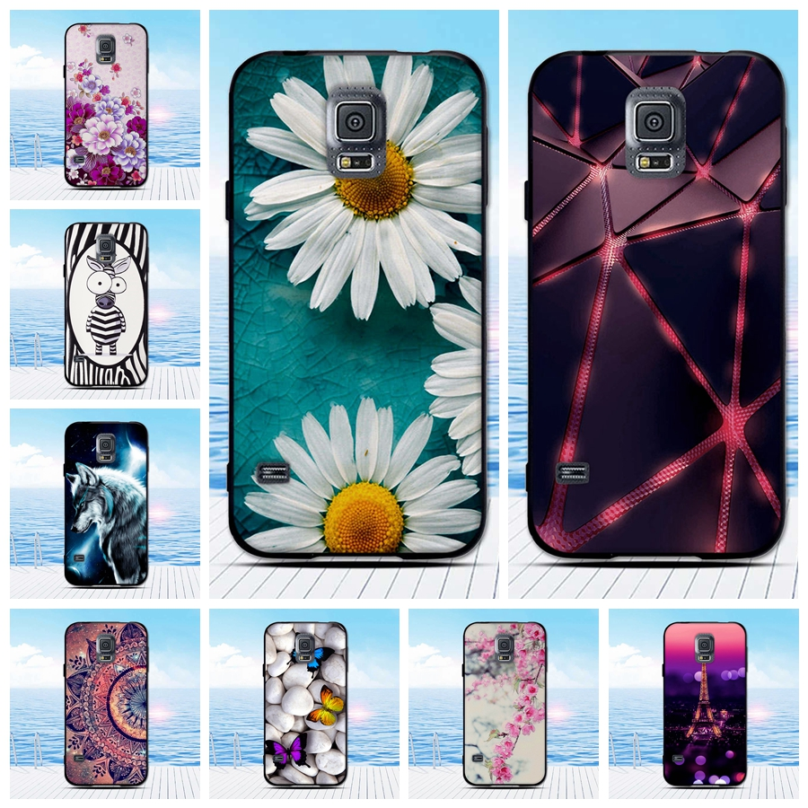 For Phone <font><b>Case</b></font> <font><b>Samsung</b></font> <font><b>Galaxy</b></font> <font><b>S5</b></font> Cover Soft Silicone Black <font><b>Case</b></font> For <font><b>Samsung</b></font> <font><b>S5</b></font> Neo <font><b>Case</b></font> I9600 G900 <font><b>G900F</b></font> Funda Back Coque Bag image