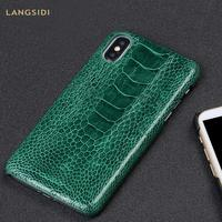 Natural Ostrich foot Leather phone case for iphone X XS XR xsmax 6 plus 6 6s 7 7 plus 8 8 plus 5 5s se protective phone case