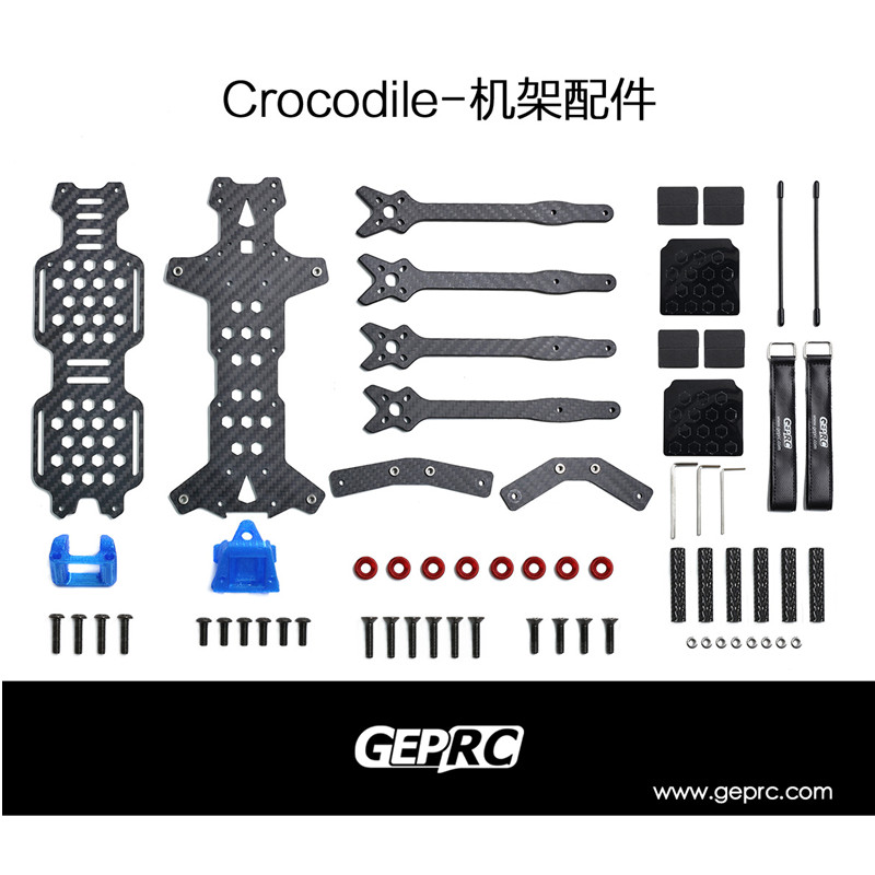 GEPRC GEP-LC7 Crocodile Big Space Strong Endurance DIY FPV RC Drone Carbon  Fiber Frame