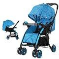 Viajes Bidireccional Choque Cochecito de Bebé Plegable Ligera Niños Trolley WMC1628