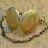 Wholesale Buyer Price Good Quality New Retro Vintage Classic Pattern Bronze Copper Brass Mechanical Pocket Watch Hour
