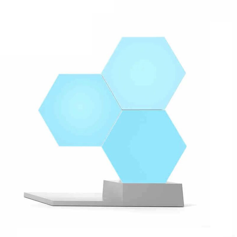 DIY Lifesmart Cololight Quantum Novelty Night Light Creative Geometry Assembly Smart Light APP Home Panel Table Desk Lamp