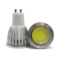 Super brillante GU10 COB LED Bombilla 9 W 12 W 15 W LED lámpara de luz regulable GU 10 led proyector caliente/blanco frío GU10 COB luz LED Lampada(China)