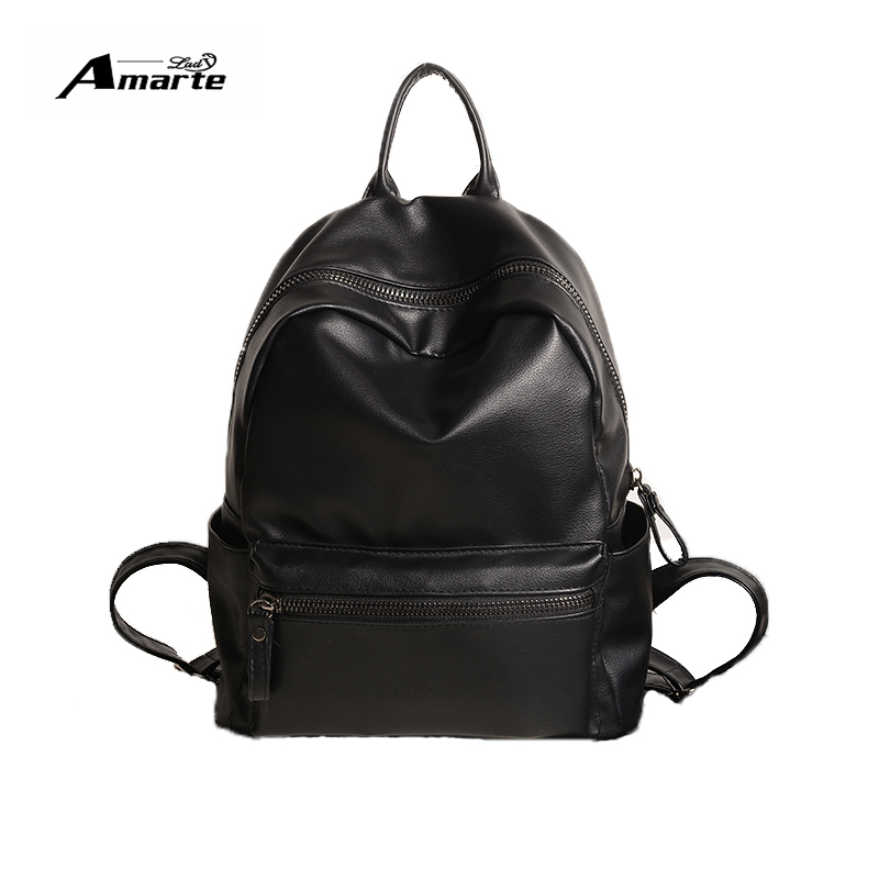 Aliexpress.com : Buy Amarte Women Pu Leather Backpack Bag Korean ...