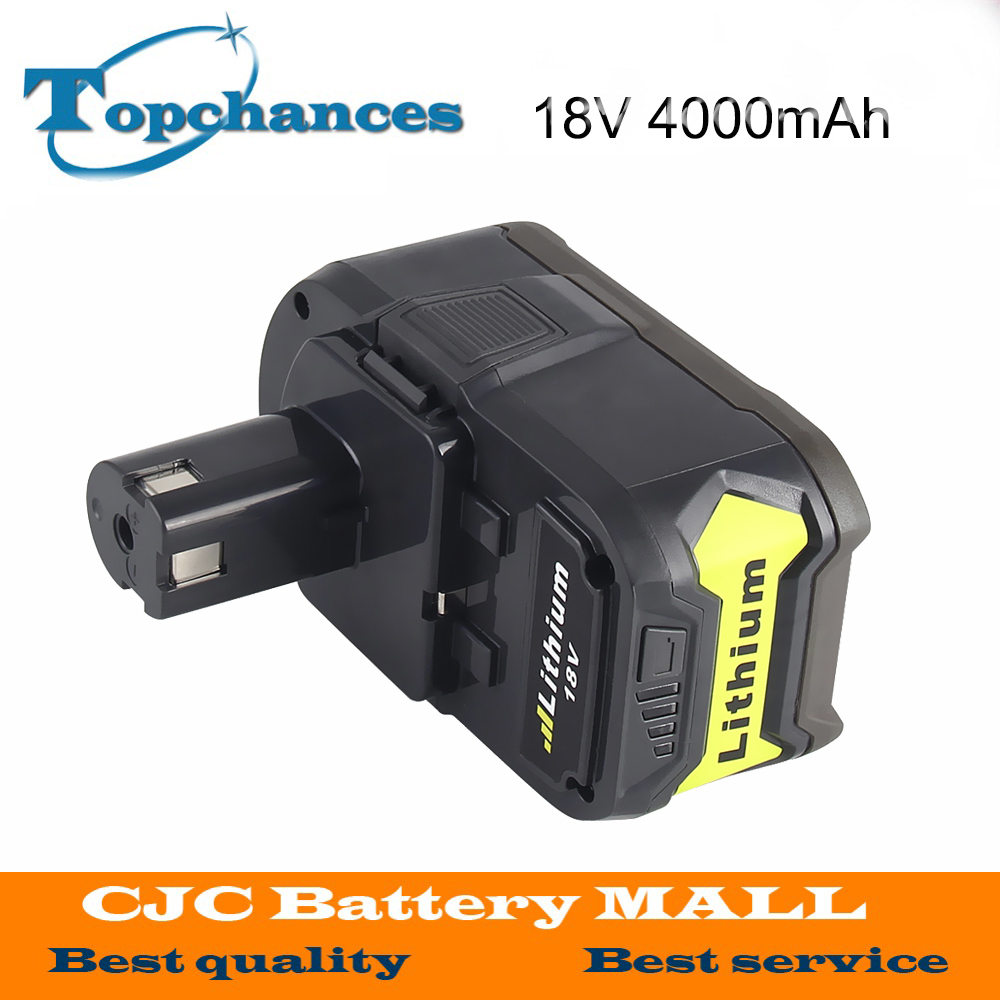 18V 4000mAh Li-Ion High Capacity Rechargeable Battery Pack Power Tool Battery For Ryobi P108 RB18L40 For Ryobi forONE+ eleoption 2pcs 18v 4000mah li ion rechargeable power tool battery for hitachi bsl1830 bsl1840 330067