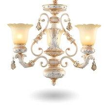 Американский Люстра Спальня Виллы Дуплекс Смолы Люстры Лампы Гостиная Железа Люстра Современный Дизайн Люстра