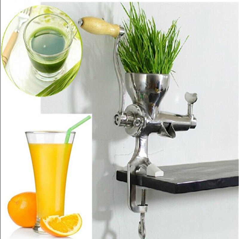 Mini type manual wheatgrass apple lemon orange tomato wheat grass juicer juicing machine juice extractor ZF