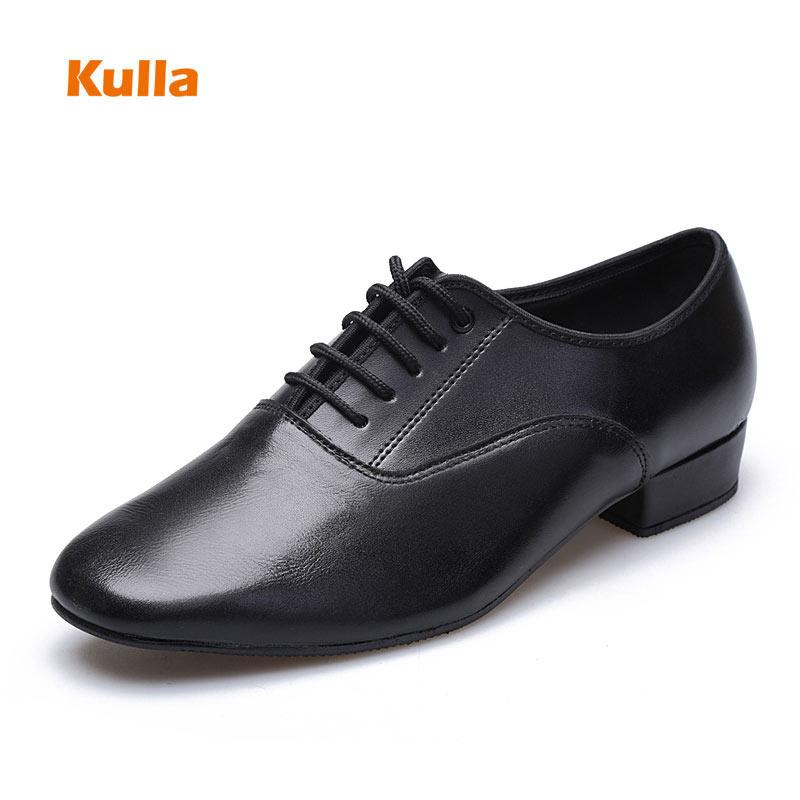 Black Genuine Leather Salsa Latin Dance Shoes Men Soft Sole Outdoor Boy Modern Ballroom Tango Dancing Shoes Size 38 45 Heels 3cm