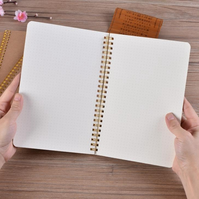 A5 Bullet Journal Notebook Medium Kraft Grid Dot Blank Daily Weekly Planner Book Time Management Planner School Supplies