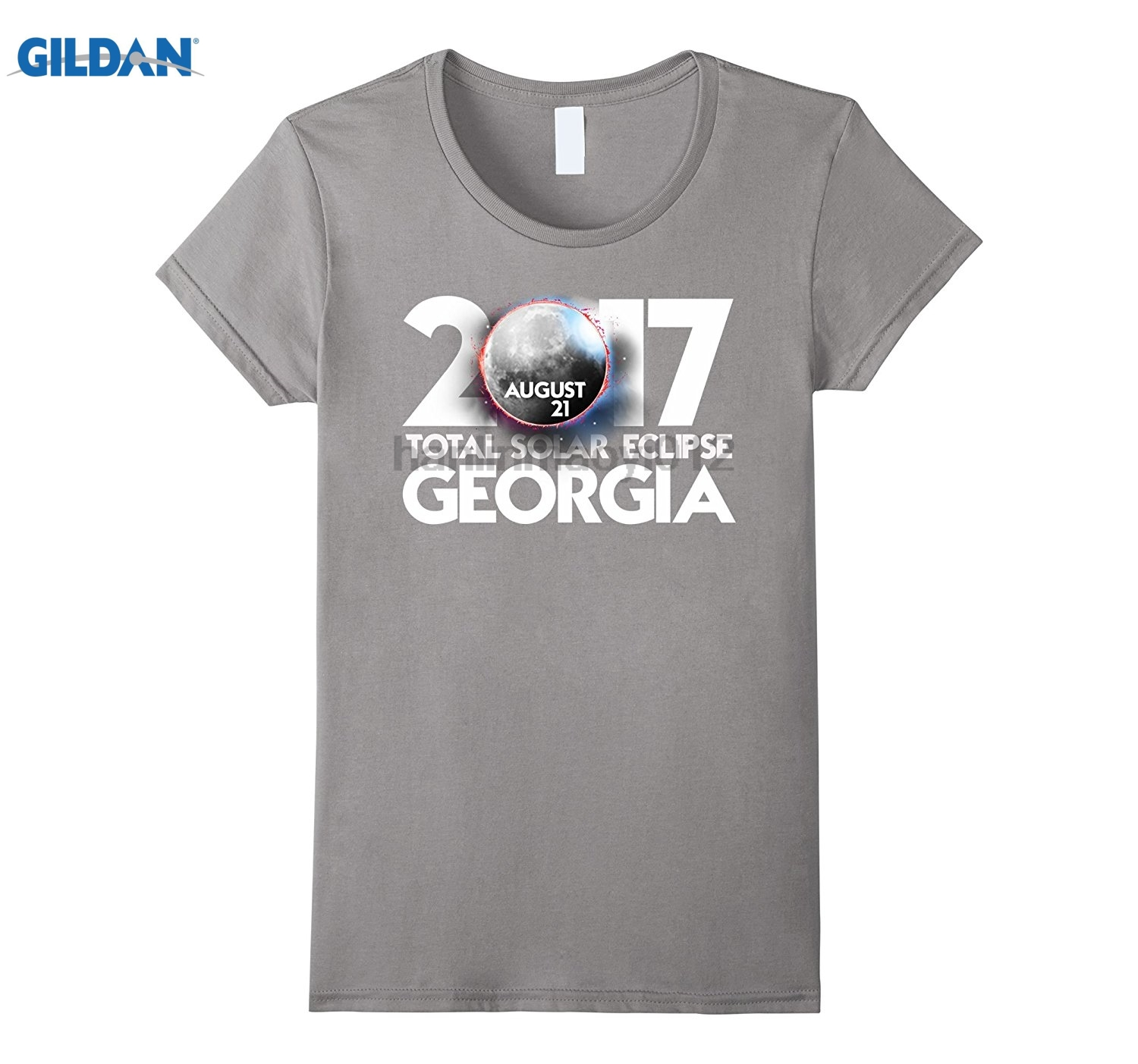GILDAN Solar Eclipse Georgia 2017 Totality Shirt glasses Womens T-shirt