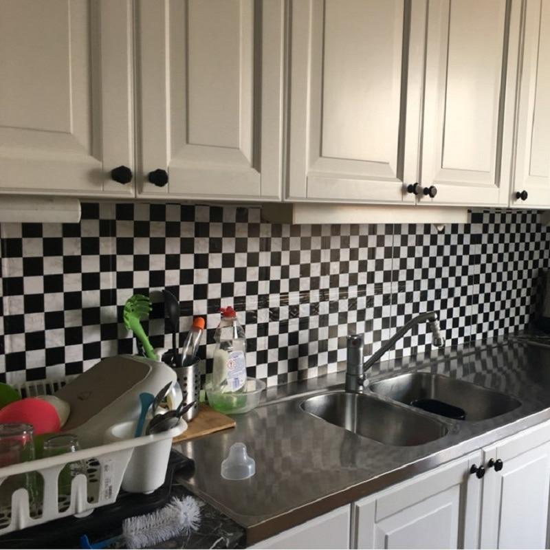 ✅10 m mosaico Adhesivos de pared autoadhesivo Peel & stick aceite ...
